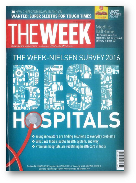 Fortis Mohali ranked in The Week – Nielsen Survey 2016