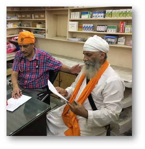 Free multispeciality camp at Seengra Gurudwara, Karnal