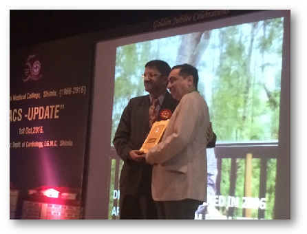 Dr HK Bali felicitated at IGMC, Shimla