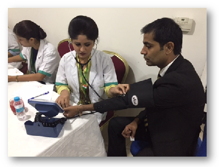 124 screened at health camp at Taj Hotel, Chandigarh