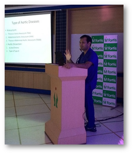 Dr Ravul Jindal lectures at Matters of Heart, 5th annual CME