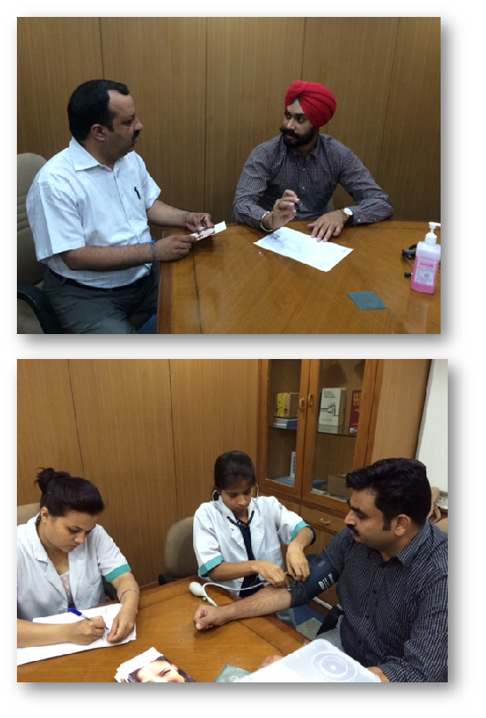 Health camp at HDFC Bank